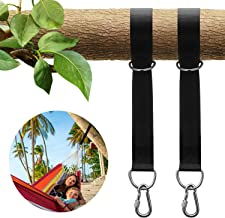 KUYOU Tree Swing Straps Hanging Kit Holds 2200lbs, Outdoor Swing Hangers & Hammock Chair Straps Rope Set (Pack of Two) with 2pcs D-Ring Carabiners Carry Bag for Hammocks Tires Disc Tree Swings