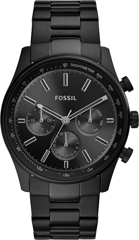 Fossil - Reloj de Cuarzo de Acero Inoxidable para Hombre BQ2448