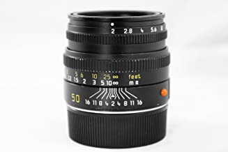Leica 50mm f/2.0 SUMMICRON-M Black Lens for M System