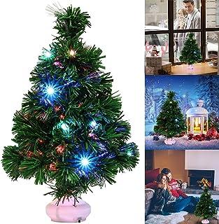 Fascigirl Mini Arbol Navidad, LED Mini Arbol Navidad Luces Árbol de Navidad de Mesa 47cm Decoración de Mesa de Navidad Pequeño Árbol de Navidad Artificial para Decoración