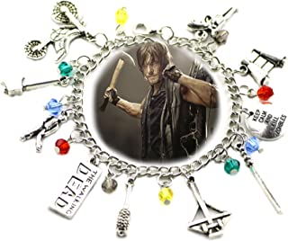 Blue Heron The Walking Dead 10 Logo Charms Toggle Clasp Bracelet w/Gift Box