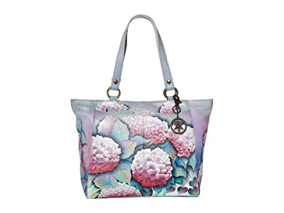 Anuschka Handbags Large Shoulder Tote 664 (Hypnotic Hydrangeas) Bags