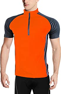 ZITY Cycling Jersey for Men,Front Zip Reflective Quick Dry Short Sleeve Breathable Sports Bike Shirt