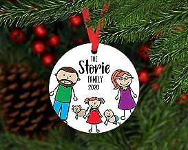Christmas Xmas Decor 2020 Ornament Personalized Family Xmas Ornament with Dog, 2020 Family of 5 Ornament, Family Ornament ...
