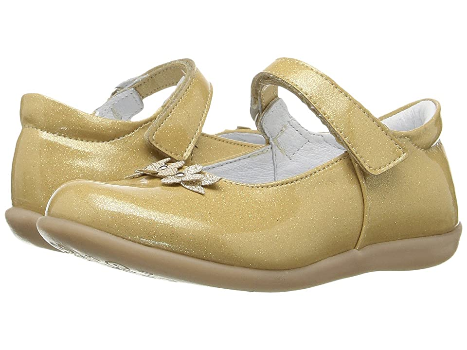 Kid Express Lilibeth (Toddler/Little Kid) (Gold Glitter Patent) Girl