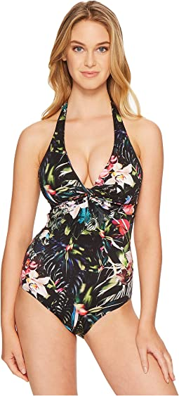 Arcadia D/DD Cup Halter One-Piece Swimsuit
