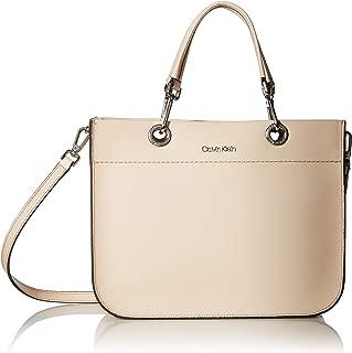 Calvin Klein Sandra Goat Leather Boxy Satchel