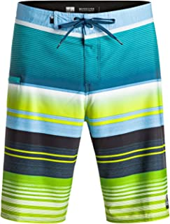 Men's Everyday Stripe Vee 21 Boardshort, Moroccan Blue, 34
