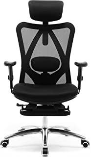 Sihoo Ergonomics Office Chair Recliner Chair,Computer Chair Desk Chair, Adjustable Headrests Chair Backrest and Armrest's Mesh Chair (Black)