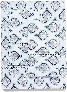 Roberta Roller Rabbit 4-Pc Estampe Cotton Sheet Set Queen Navy