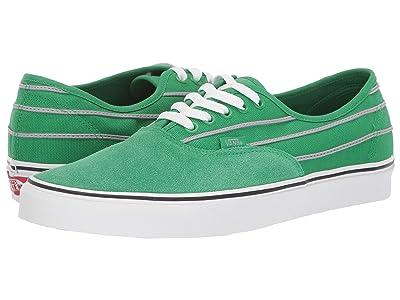 Vans Authentictm ((Sport Stripes) Fern Green/Drizzle) Skate Shoes