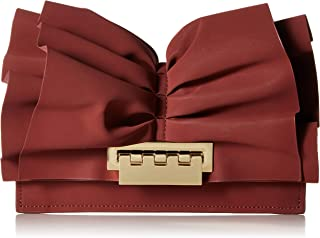 ZAC Zac Posen womens Earthette Flat Clutch Crossbody Smoked Merlot