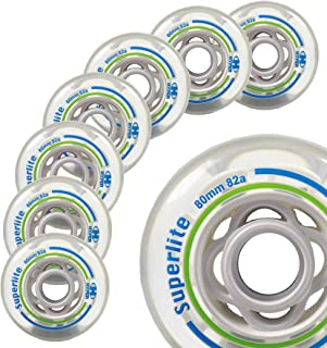 Inline Fitness Skate Wheels Hyper Superlite - 8 Wheels - Size: 80MM - Hardness: 82A - Recreational, Fitnes (80MM)