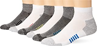 Amazon Essentials Men's 6-Pack Performance Cotton Cushioned Athletic Ankle Socks