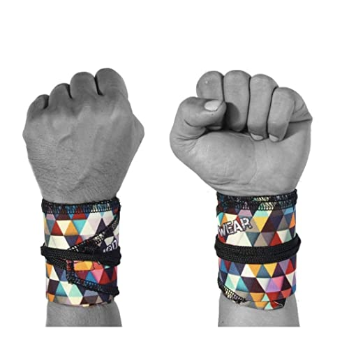 WOD Wear Wrist Wraps for Powerlifting, Strength Training, Bodybuilding, Cross Training, Olympic