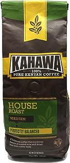 KAHAWA Kenya Coffee, Medium Roast, Ground Coffee, 100% Arabica Coffee, Kenya AA, Specialty Coffee, Premium Coffee, Single Source Origin, Direct Fair Trade, 12 Ounce (Medium, 12)