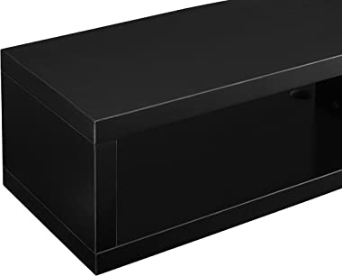 """Martin Furniture Shallow Floating TV Console, 60"""", Black"""