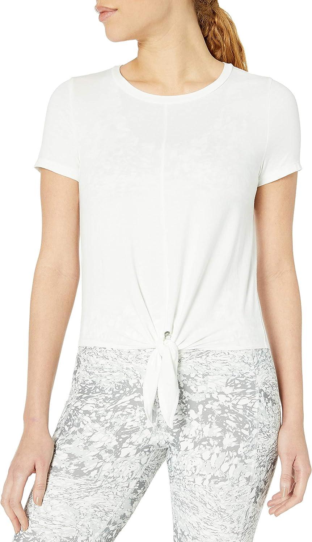 Core 10 Women's Standard Pima Cotton Tie Front Short Sleeve T-Shirt