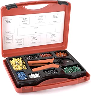 AFA Tooling 1,000 Piece Electrical Connector Kit with Wire Crimping Tool and Durable Carry Case, Ferrules Crimp