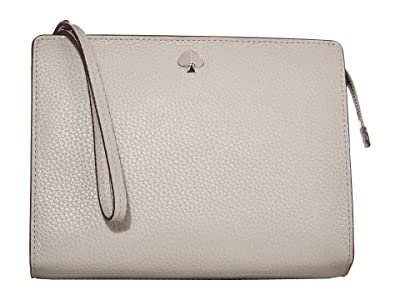 Kate Spade New York Polly Medium Wristlet (True Taupe) Clutch Handbags