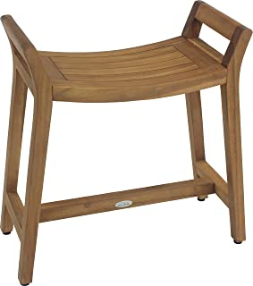 AquaTeak Asia Ascend Teak Shower Bench with Elevated Height