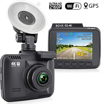 Rove R2-4K Dash Cam Built in WiFi GPS Car Dashboard...