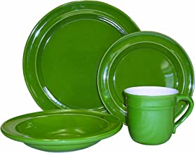 Emile Henry 4-Piece Dinnerware Set, Vert