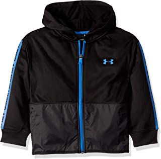 Under Armour Boys' Little Zip Up Hoody, Black F191, 7