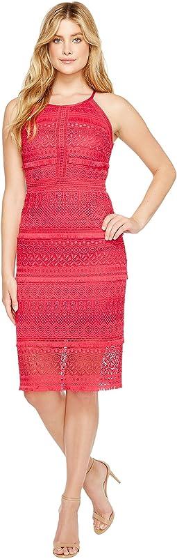 Fringe Venise Dress with Lace Inserts