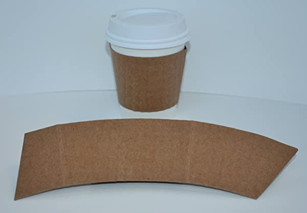BriteVision 8 Oz Insulating Hot Cup Coffee Sleeve 1200 Ct Fits 8 Oz Cups