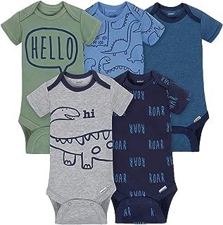 Gerber Baby-Boys 5 Pack Variety Onesies, Dino Roar, 6-9 Months