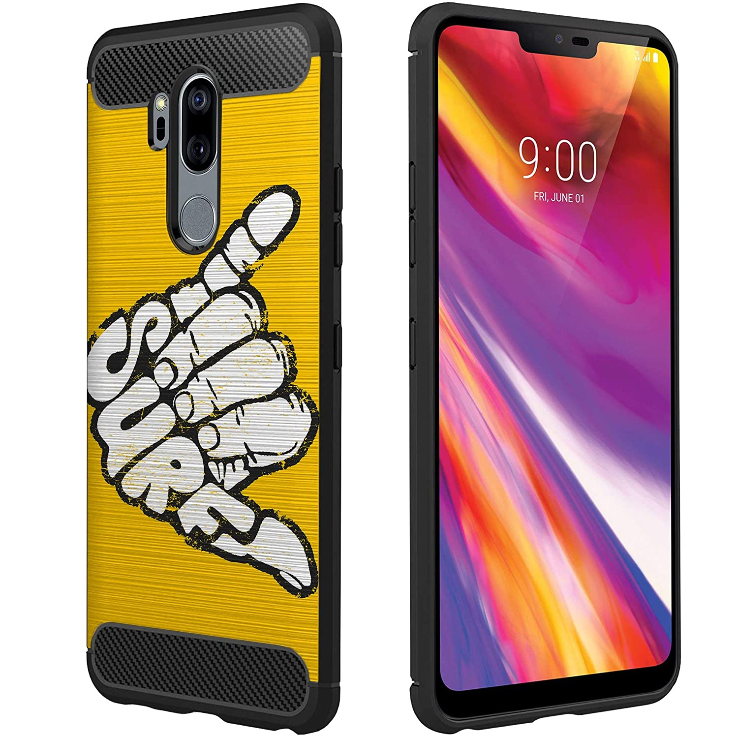 OmyBloom Light Flex Case Compatible for LG G7 ThinQ/LG G7 | Beach Vibes Design Phone Case for LG G7 - Surf's Up