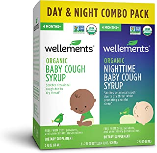 Wellements Cough Syrup (Organic Baby Cough 2 Pack (Day & Night), 2 oz. Day and Night Formula) Free from Dyes, Parabens, Pr...