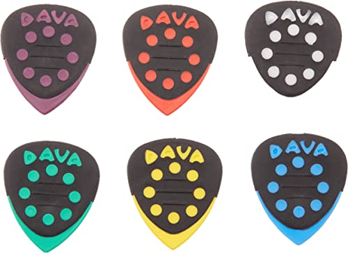 Púas de guitarra de Dava 6024, 6 unidades