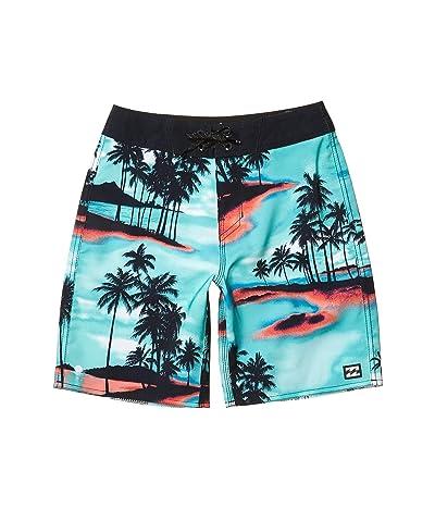 Billabong Kids Sundays Pro Swim Shorts (Big Kids) (Aqua) Boy