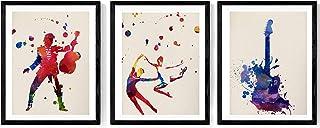 Nacnic Lot de Drap pour l'Encadrement Viva La Musica. Posters Style Aquarelle avec des Images de Musique. D?coration. Feui...