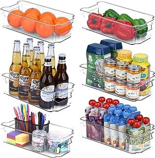 Toplife Panier de Rangement en Plastique, Grand Bacs de Rangement, pour Frigo, Réfrigérateur, Congélateur, Cuisine, étagèr...