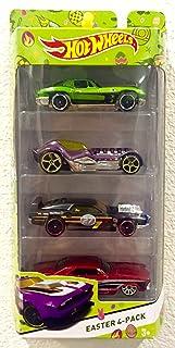 2015 Hot Wheels Easter 4-Pack Target Exclusive 1979 Corvette Stingray (Green), Dieselboy (Purple), Rivited (Black Matte), ...