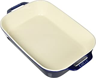STAUB Ceramics Rectangular Baking Dish, 13x9-inch, Dark Blue