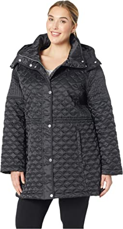 Plus Size Tribeca - Polyfill Quilt Zip Front Snap Front