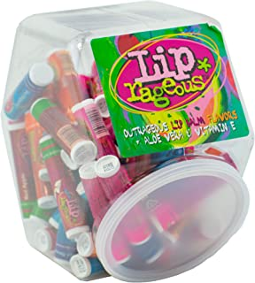 Lip Rageous Lip Balm Assortment - (1) Unit of 60 Pieces - Assorted Flavors - for Kids, Boys and Girls, Party Favors, Piñata Stuffers, Children's Gift Bags, Carnival Prizes, Dental Bags