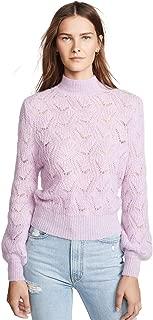 Women's Audra Geo Weave Classic Crewneck Pullover Sweater