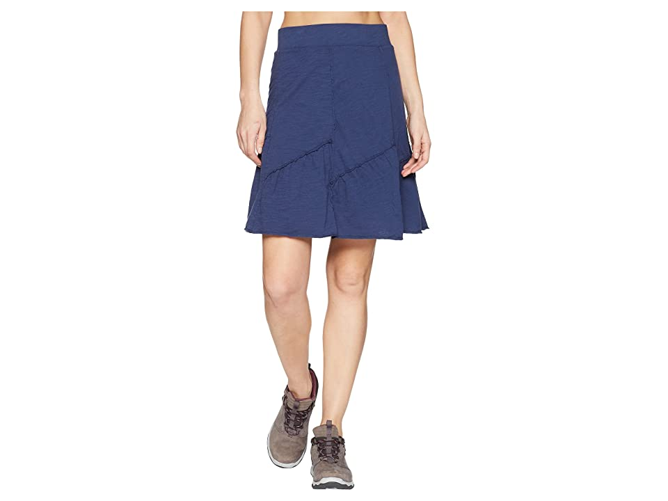 Mod-o-doc Slub Jersey Asymmetrical Seamed Skirt (New Navy) Women