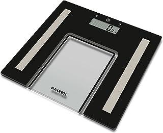 Salter Básculas de baño Función de memoria del analizador para 8 usuarios, modo atleta, capacidad 180 kg, negro