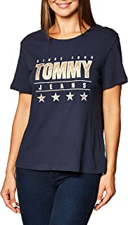 Tommy Hilfiger Women's Slim Metallic Tommy Tee T-Shirt