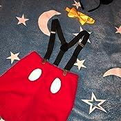 Geburtstag Outfit Fotoshooting Kost/üm Fliege Maus Ohren 4pcs Bekleidungssets Halloween Karneval // 2.// 3 Clip-on Hosentr/äger Hosen OwlFay Neugeborenen Kleinkind Baby Jungen Mickey Maus 1