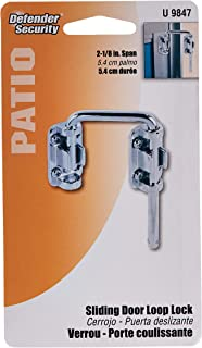 Prime-Line Products Defender Security U 9847 Patio Sliding Door Loop Lock - Increase Home Security, Install Additional Chi...