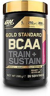 Optimum Nutrition ON Gold Standard BCAA Polvo, Suplementos Deportivos con Aminoacidos, Vitamina C y Magnesio para Musculation, Melocotón y Fruta de la Pasión, 28 Porciones, 266g