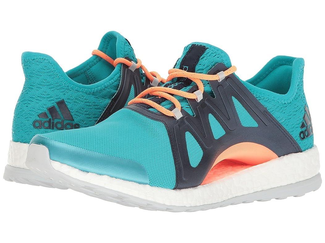 ポーズ中に適合しました(アディダス) adidas レディースランニングシューズ?スニーカー?靴 PureBOOST Xpose Clima Energy Blue/Footwear White/Linen Green 9 (26cm) B - Medium