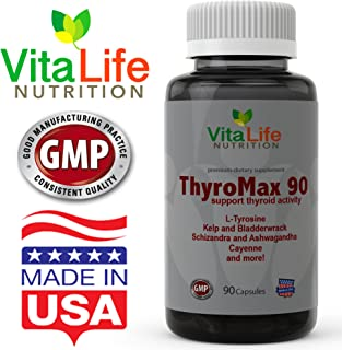 Thyroid Support Supplements - Powerful Formula Blend with Ashwagandha Root, Selenium, Vitamin B12, Magnesium, Iodine, Zinc & More - Maintain Your Energy at Optimum Level
